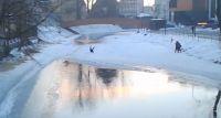 Zarwał się pod nim lód na Drwęcy